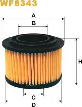 WIX Filters WF8343 - Fuel filter uk-carparts.co.uk