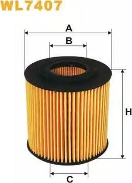 WIX Filters WL7407 - Oil Filter uk-carparts.co.uk