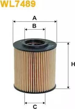 WIX Filters WL7489 - Oil Filter uk-carparts.co.uk