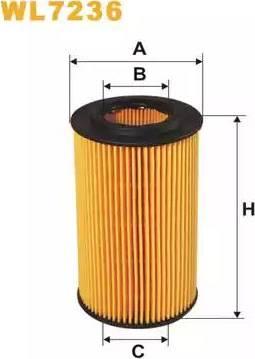 WIX Filters WL7236 - Oil Filter uk-carparts.co.uk