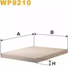 WIX Filters WP9210 - Filter, interior air uk-carparts.co.uk