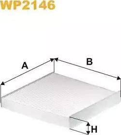 WIX Filters WP2146 - Filter, interior air uk-carparts.co.uk