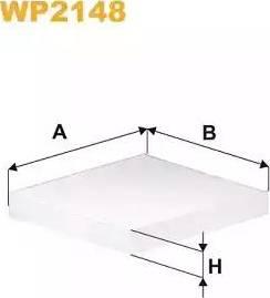 WIX Filters WP2148 - Filter, interior air uk-carparts.co.uk